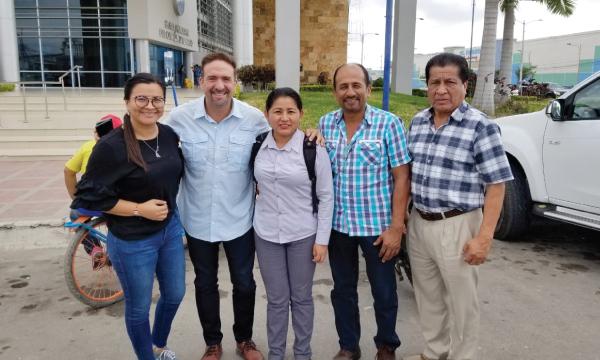 CREO continúa su recorrido de trabajo con las autoridades seccionales de Santa Elena