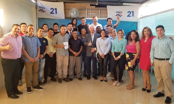 Jóvenes CREO se capacitan para el proceso de fortalecimiento territorial