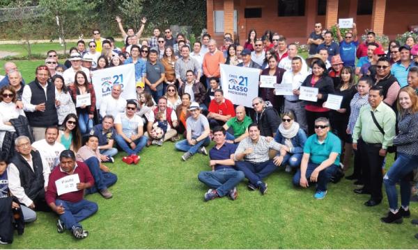 Dirigentes y Autoridades Cantonales de CREO Azuay cumplen jornada de unidad provincial