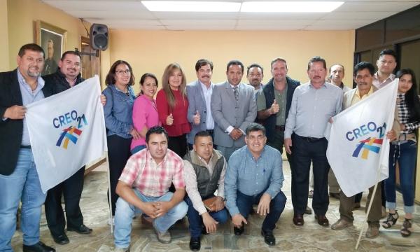 CREO llega a Alausí como parte del trabajo nacional con sus autoridades electas