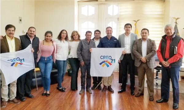 Desde el cantón Guano CREO continúa su trabajo territorial con las autoridades electas