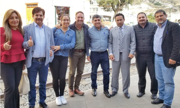 CREO recorre Chimborazo coordinando acciones con las autoridades de Pallatanga