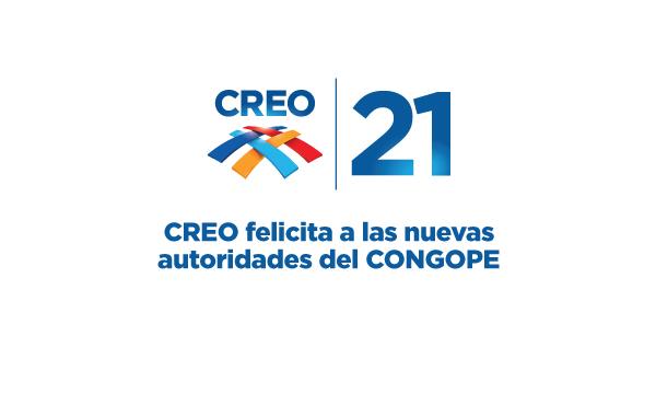 CREO felicita a las nuevas autoridades del CONGOPE