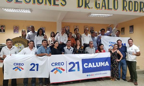 Desde Caluma, Provincia de Los Ríos, CREO empodera a su nueva estructura cantonal
