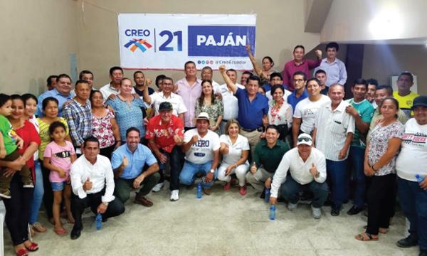 CREO llega a Paján y fortalece su estructura posesionando a sus autoridades cantonales