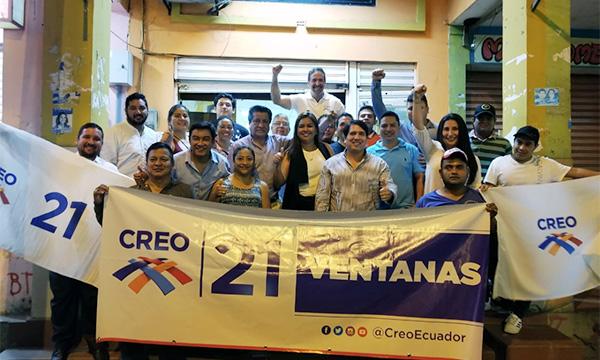 Movimiento CREO llega a Ventanas para designar a su nueva directiva territorial del cantón