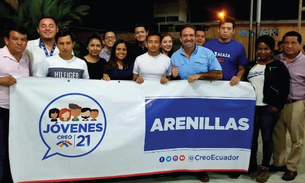 CREO posesiona a su nueva Directiva del Frente de Jóvenes en Arenillas