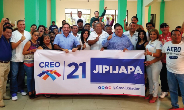 Desde Jipijapa CREO recorre Manabí y nombra a su nueva directiva territorial