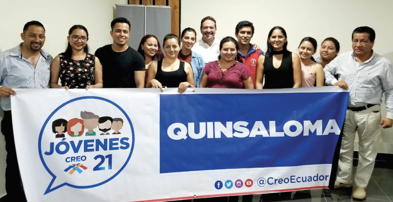 El Frente de Jóvenes CREO de Quinsaloma organiza su trabajo para fortalecer la estructura cantonal