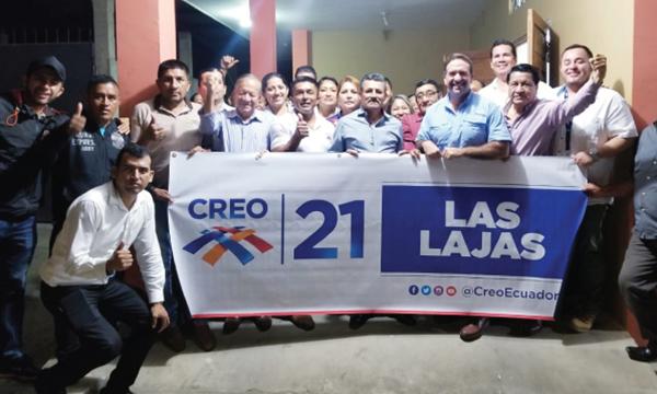 CREO se fortalece y posesiona a su nueva directiva cantonal de Las Lajas