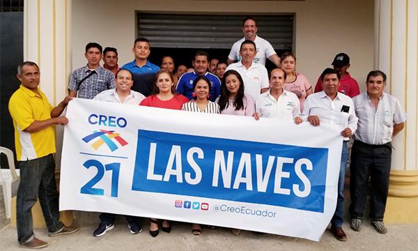 En Las Naves CREO posesiona la nueva directiva cantonal para fortalecer el territorio en Bolívar