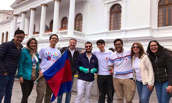 Jóvenes CREO participan en la minga ciudadana por la ciudad de Quito