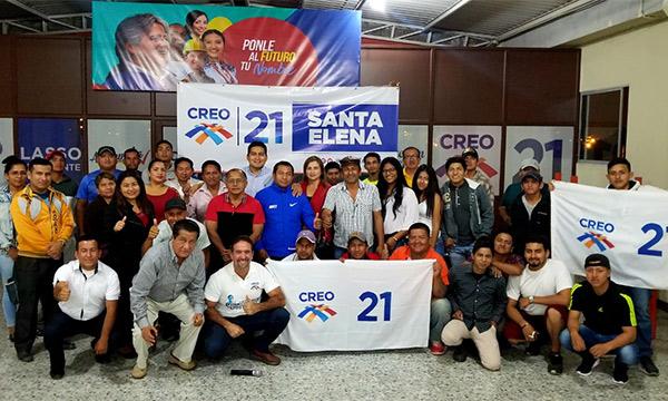 Desde Santa Elena CREO continúa su trabajo territorial y posesiona a la nueva Directiva Cantonal