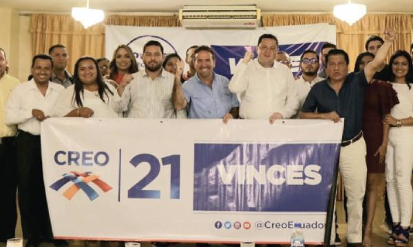 CREO posesiona a su nueva directiva cantonal de Vinces y se fortalece en Los Ríos