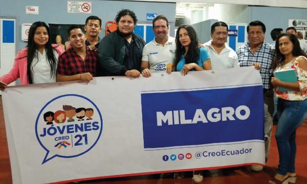 El Frente de Jóvenes CREO en Milagro se une al trabajo territorial de Guayas