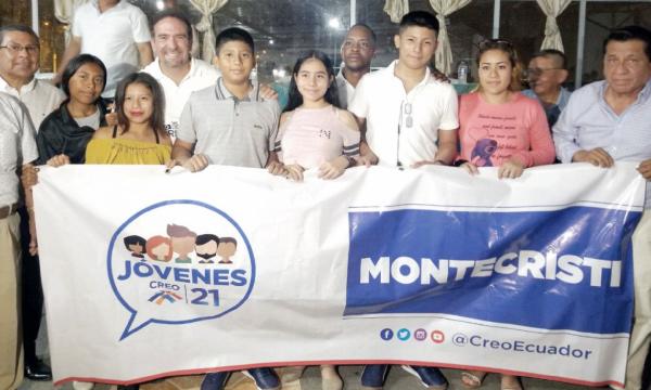 En Montecristi el Frente de Jóvenes consolida su espacio dentro de la familia CREO