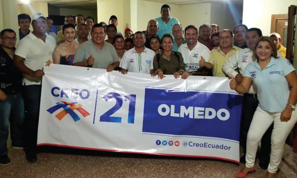 CREO llega a Olmedo y continúa su trabajo de estructura territorial a nivel nacional