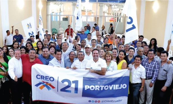 En Portoviejo CREO fortalece su estructura y posesiona a su nueva directiva cantonal
