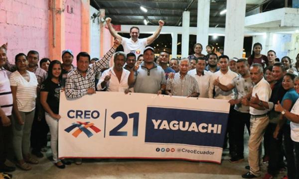 Desde Yaguachi CREO se fortalece y posesiona a su nueva dirigencia cantonal