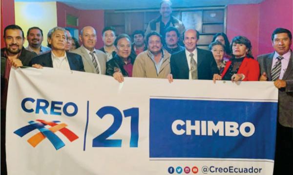 Desde Chimbo CREO se fortalece y posesiona a su nueva Directiva Cantonal