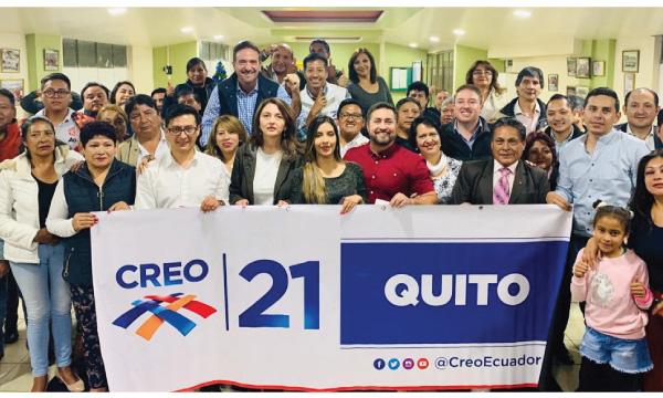 CREO Pichincha posesiona a su equipo cantonal de Quito para el objetivo Lasso 2021