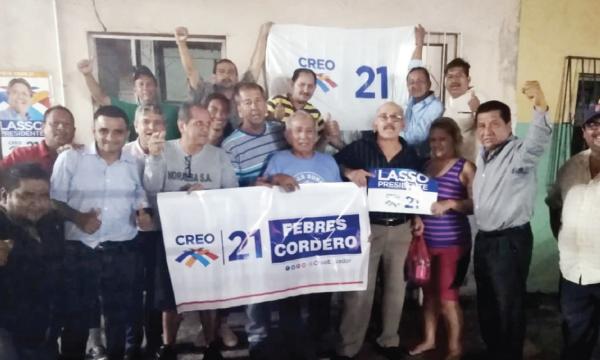 En la Febres Cordero CREO posesiona a su segunda Directiva Territorial para el 2021