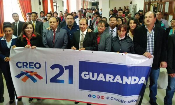 Desde Guaranda CREO se fortalece y posesiona a su nueva Directiva Cantonal