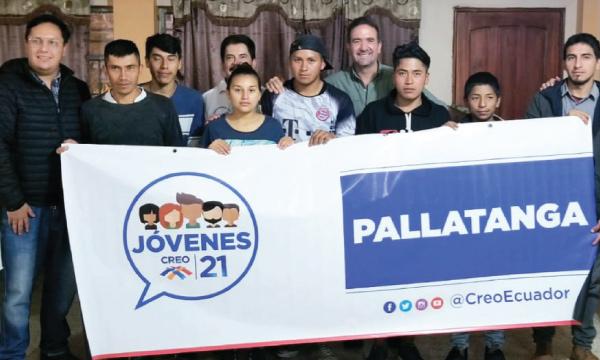 El frente de Jóvenes de Pallatanga entra en el proceso de fortalecimiento territorial