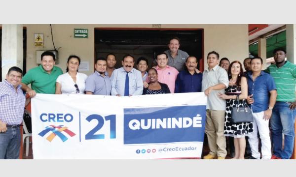 Desde Quinindé CREO formaliza su estructura de trabajo para Lasso 2021