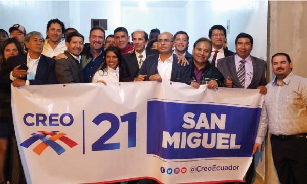 Desde San Miguel CREO se fortalece y posesiona a su nueva Directiva Cantonal