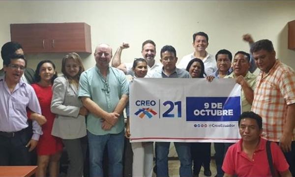 Desde El Fortín en Guayaquil CREO continua esta semana su trabajo de crecimiento territorial