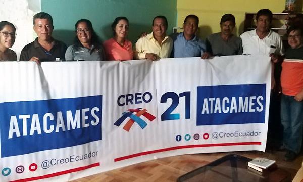 CREO Esmeraldas se fortalece y crece su presencia territorial desde el Cantón Atacames