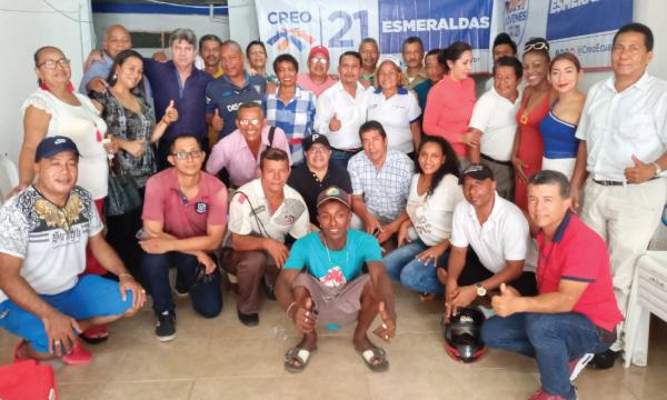 CREO Esmeraldas acelera la posesión de sus directivas cantonales y parroquiales