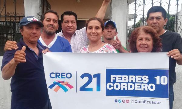 CREO saluda a su nueva Directiva Territorial de la Parroquia Febres Cordero en la ciudad de Guayaquil