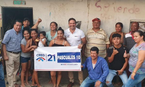 En el sector de Tiwinza, en Guayaquil, CREO suma una nueva directiva territorial