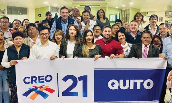 CREO continúa hoy en Quito el trabajo territorial y posesiona su nueva directiva en Conocoto