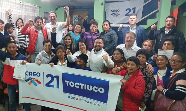 Desde la Parroquia Toctiuco en Quito CREO fortalece su nueva Directiva Territorial
