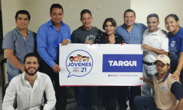 Jóvenes CREO se fortalece y posesiona a su nueva directiva territorial en Tarqui Guayaquil