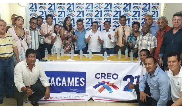 CREO Esmeraldas se fortalece y posesiona a su nueva directiva cantonal de Atacames
