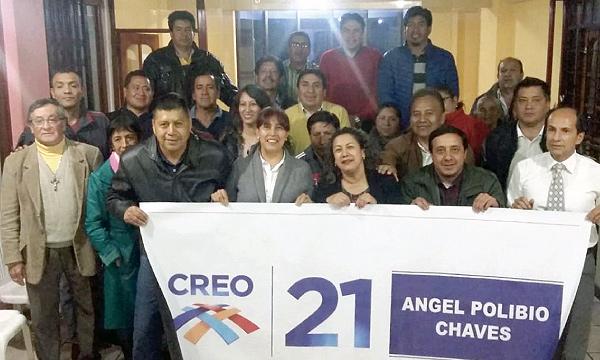 En la Parroquia Ángel Polibio Chaves CREO Bolívar nombra autoridades y se fortalece