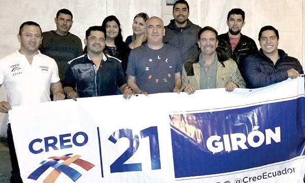 CREO posesiona a su nueva directiva en Girón y fortalece su trabajo en Azuay