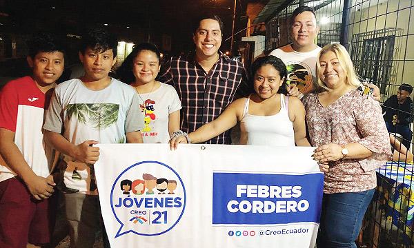 Jóvenes CREO se fortalece y posesiona directiva territorial en la parroquia Febres Cordero
