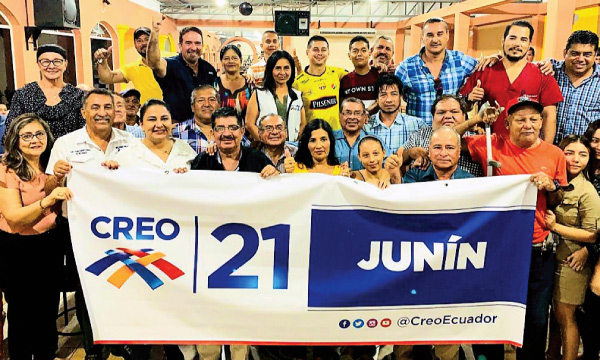 El movimiento CREO en la provincia de Manabí trabaja en la conformación de las directivas cantonales con miras al 2021