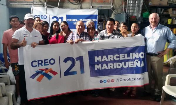 Desde el cantón Marcelino Maridueña en Guayas CREO posesiona su nueva directiva Lasso 2021
