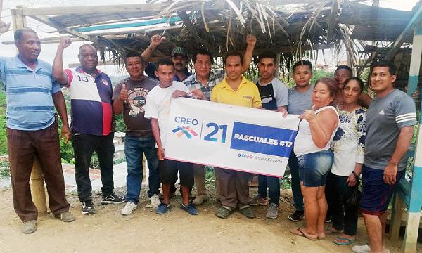 En Pascuales CREO Guayaquil posesiona una nueva Directiva para la campaña Lasso 2021
