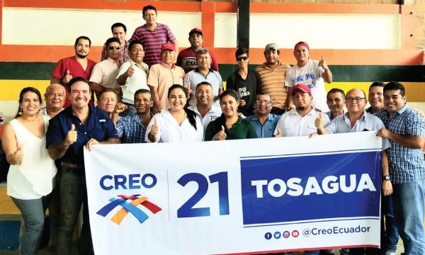 Desde Tosagua arranca el nuevo recorrido de CREO en Manabí por Lasso 2021