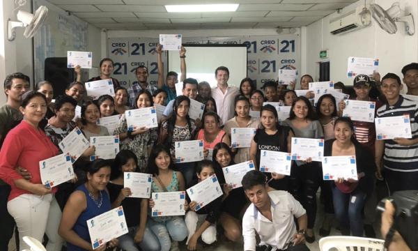 CREO continúa con el proceso de formación de Jóvenes en Guayaquil