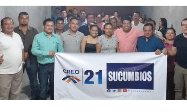 CREO Sucumbíos acelera su trabajo territorial para enfrentar las elecciones presidenciales