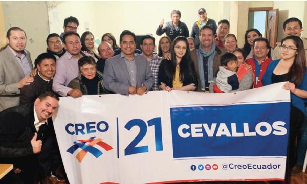 En Cevallos CREO Tungurahua consolida su trabajo territorial con miras al 2021