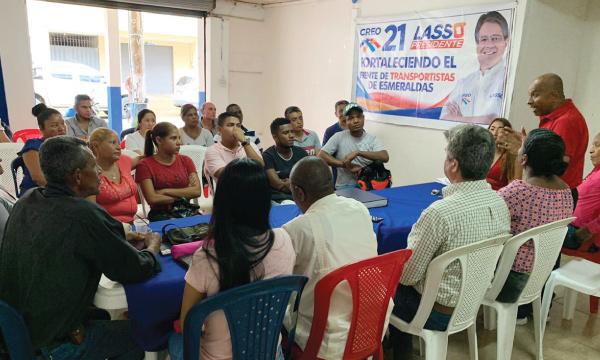 Líderes Sociales planifican desde Esmeraldas el apoyo ciudadano a Guillermo Lasso